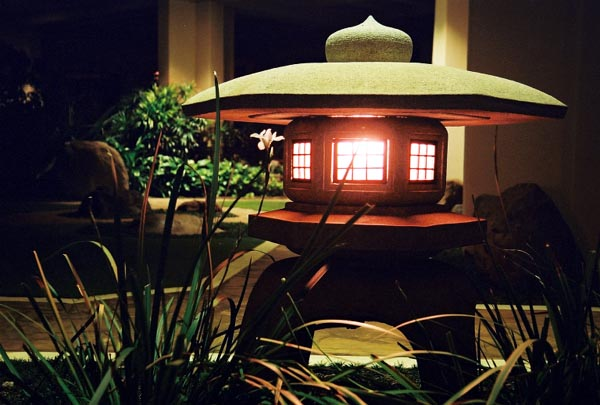 Japanese Garden At Night photographyrichard ritari - maui prince japanese garden lantern
